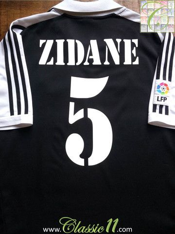 Relive Zinedine Zidane s 2001 2002 La Liga season with this vintage Adidas Real  Madrid away football shirt. 9098fd2e8