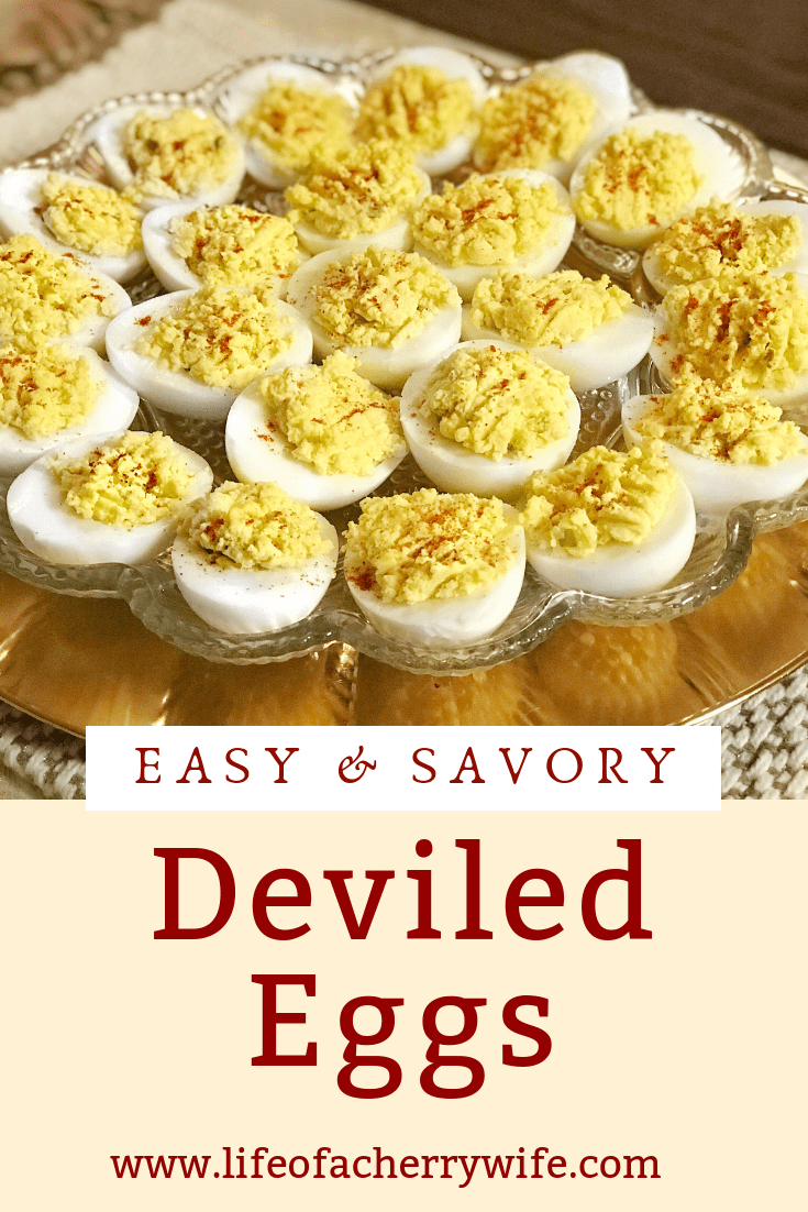 Easy & Savory Deviled Eggs - Life of a Cherry Wife