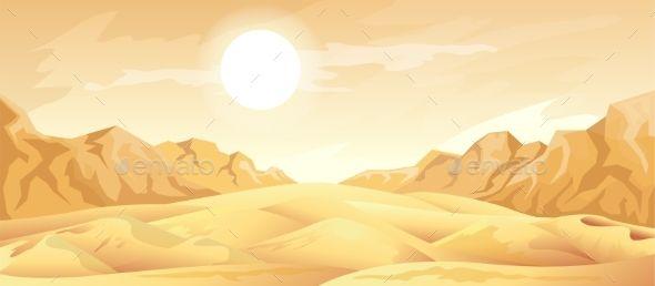 Desert Landscape Background By Zybr78 Desert Landscape Illustration