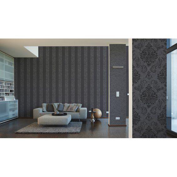 A S Creation Vliestapete Elegance Streifen Grau Kaufen Bei Obi Tapete Grau Farben Und Tapeten Haus Deko