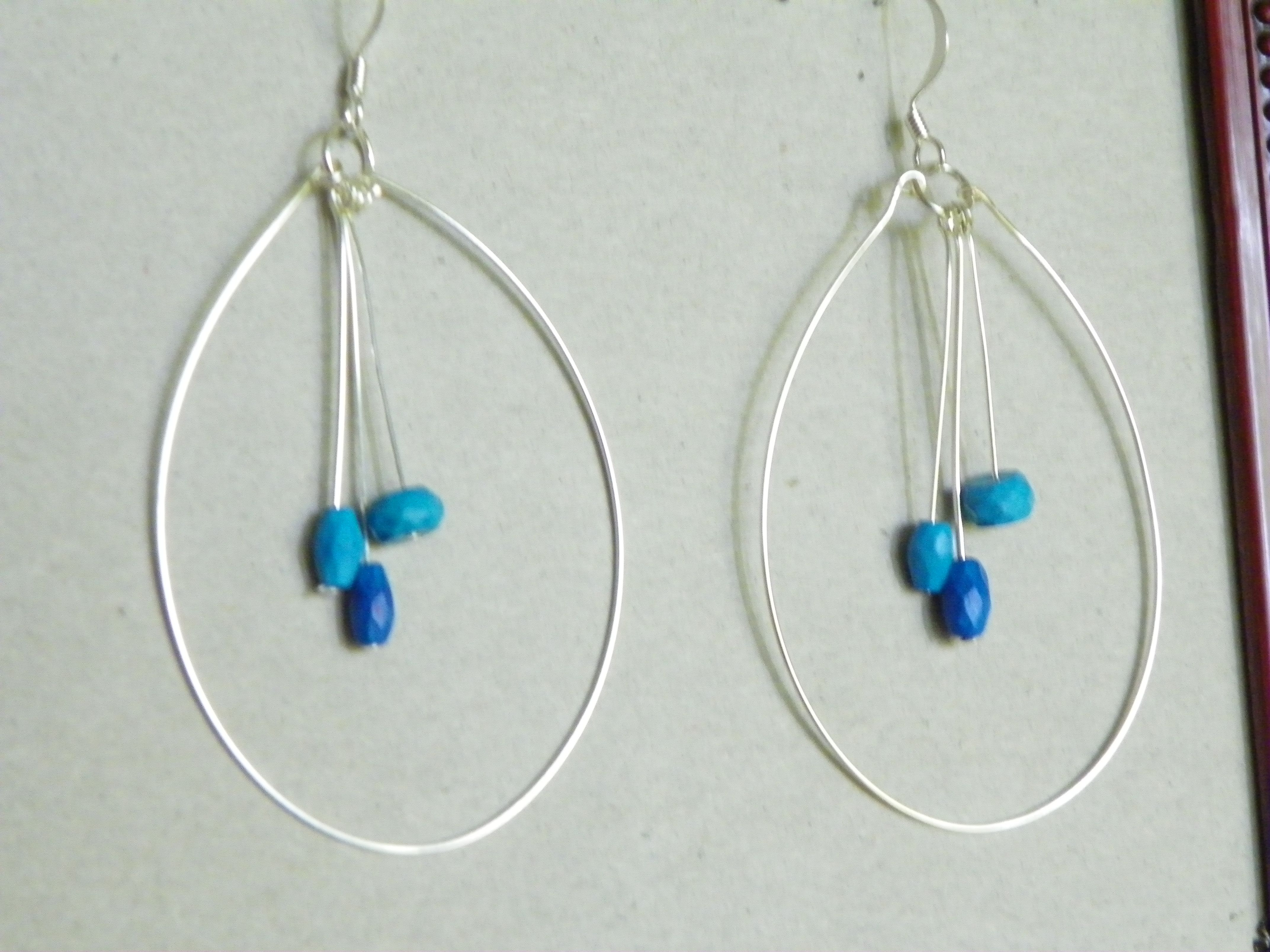 handmade hoop earrings made with anti tarnish 22g silver wire and ...