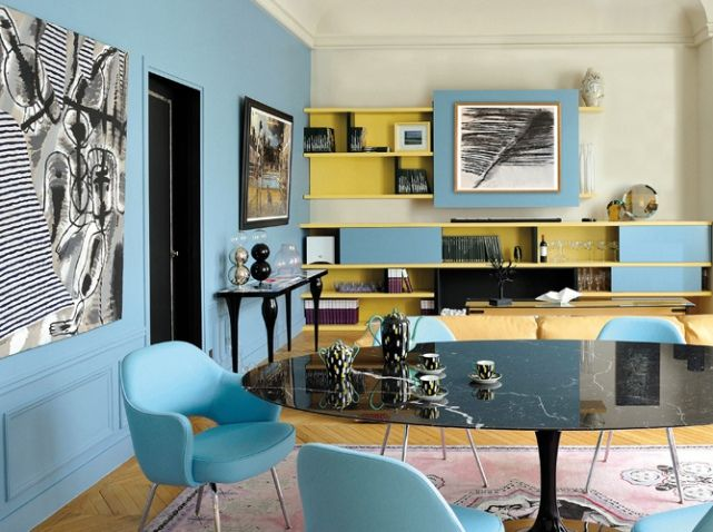 Salon Jaune Et Bleu Home Deco Pinterest Salons Jaunes Salon Et Jaune