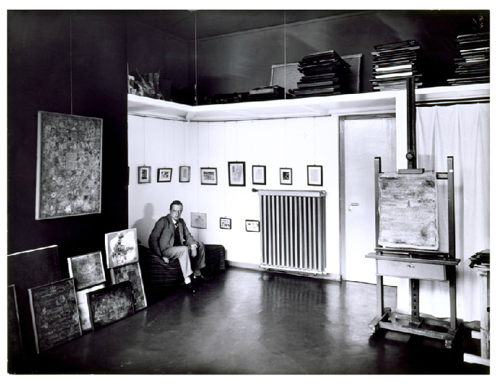 Paul Klee In His Studio In The Masters House In Dessau
