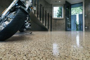 Duurzame vloer van gepolijst beton
