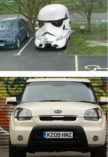 Awesome Is It Me, Or Does The Kia Soul Display Some Strong Stormtrooper Styling  Influences?