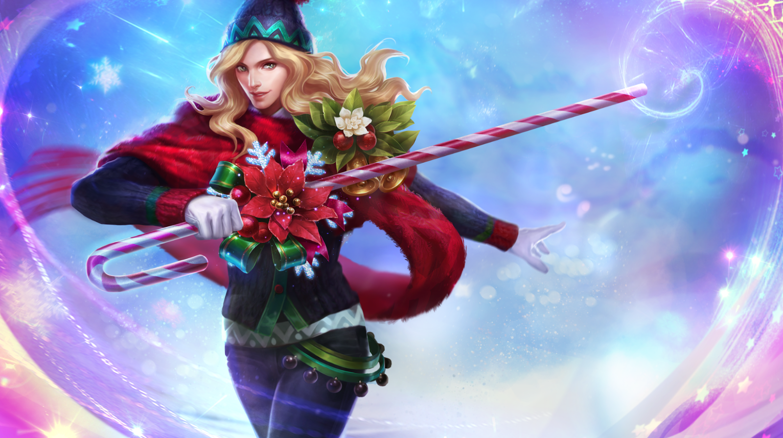 Lancelot Special Skin Christmas Carnival Desain Karakter Game Gambar Naga Gambar