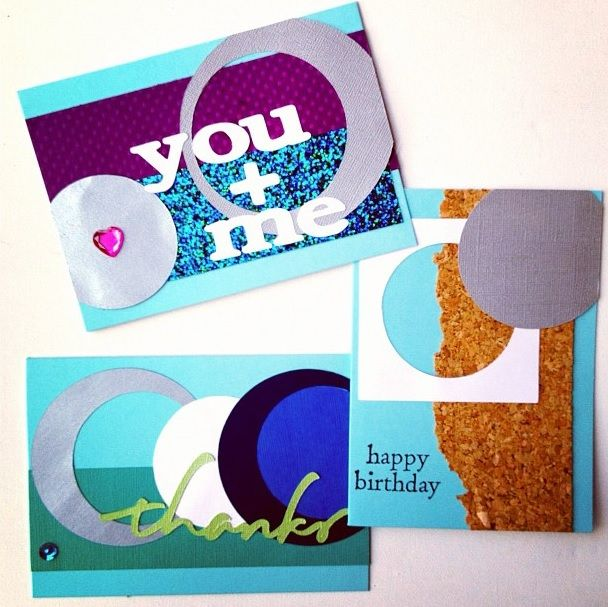 circle cards, birthday, thank you, love, handmade cards, personalized