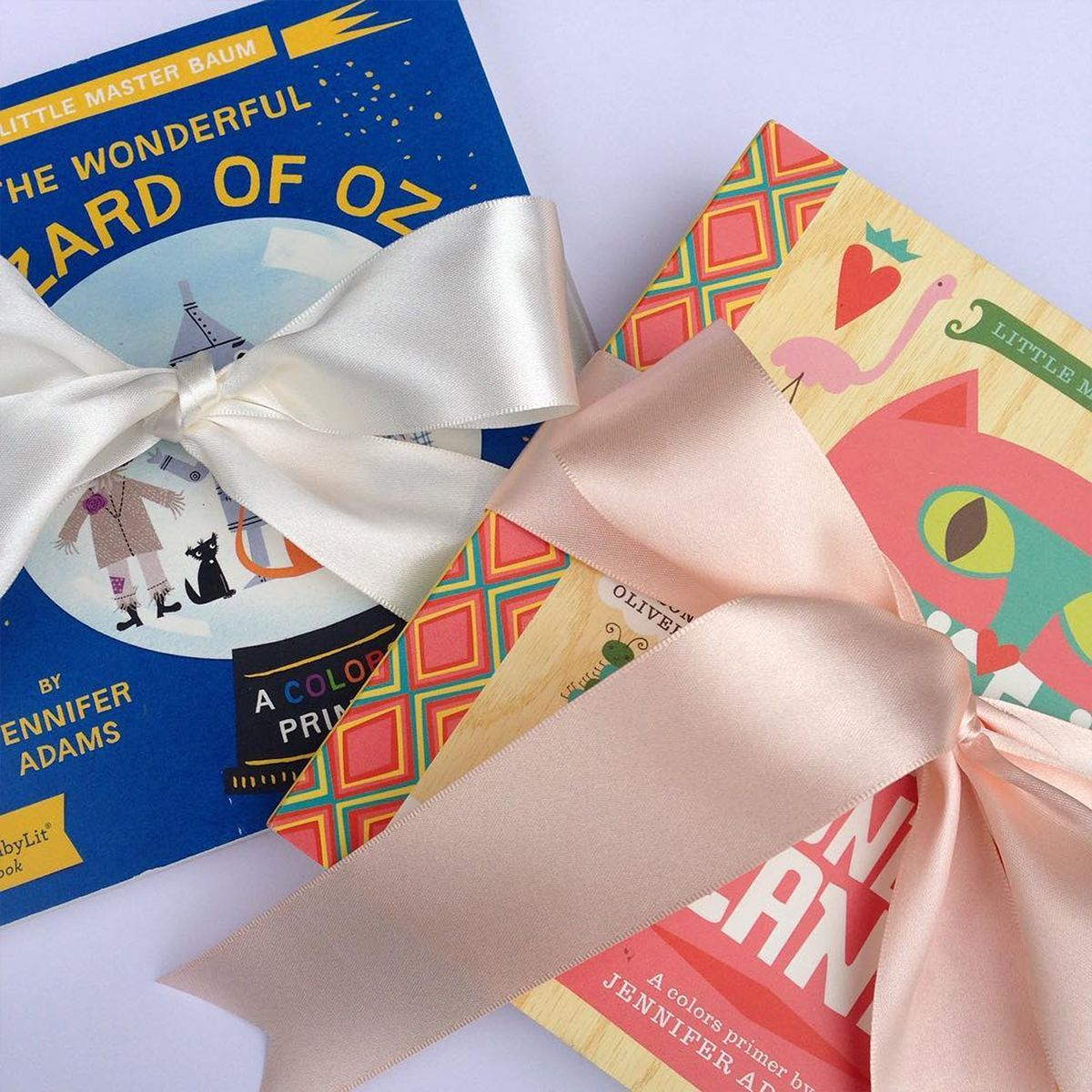 We Love How Bespokenotes Tied A Simple Satin Bow Around Children S Books To Give As Gifts This Takes Under 10 Mi Floral Supplies Childrens Gifts Offray Ribbon