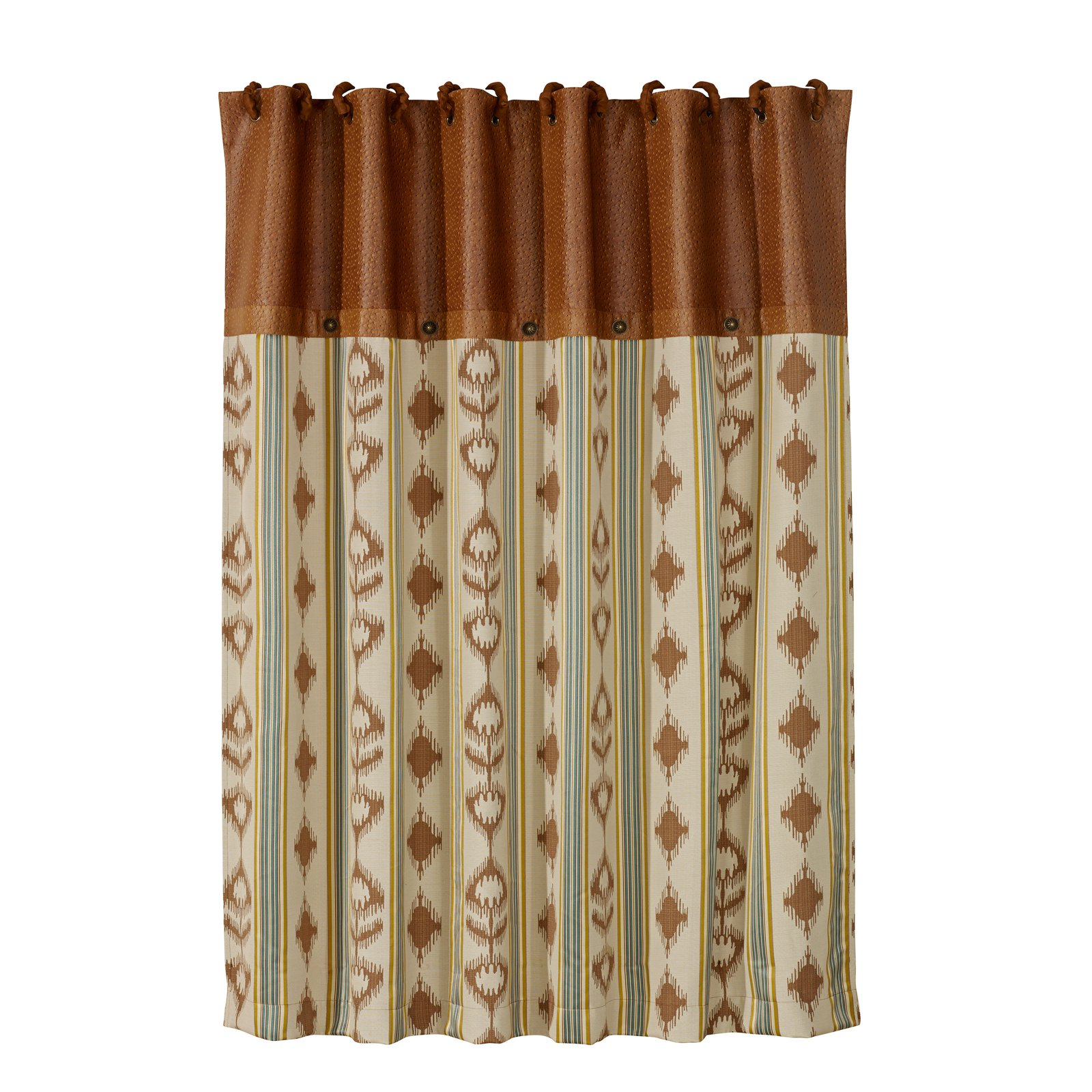 Hiend Accents Alamosa Polyester Shower Curtain Southwestern