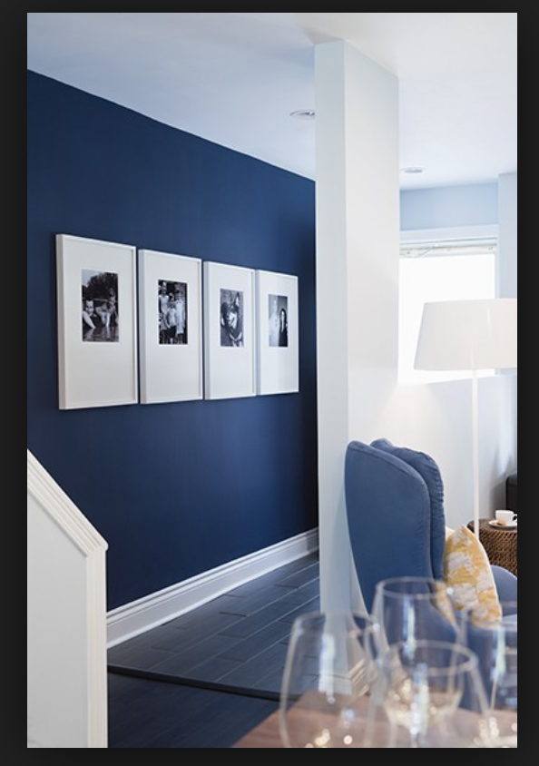 Navy Feature Wall Blue Accent Walls Home Blue Walls