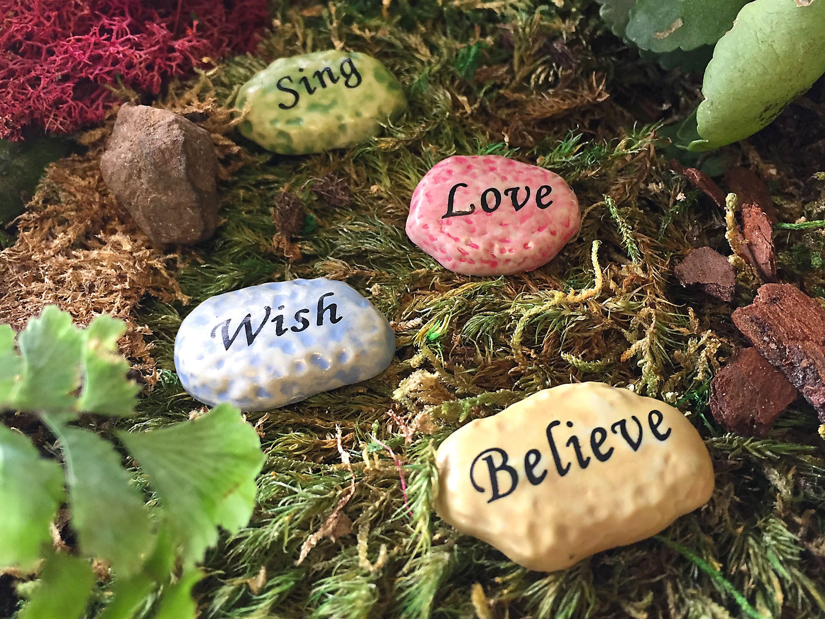 Flower Fairies Stepping Stones   Miniature Fairy Garden Accessories ...