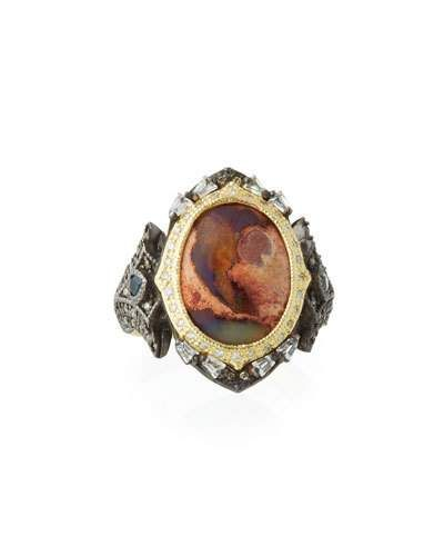 Armenta Old World Mexican Fire Opal & Mixed Stone Ring ...