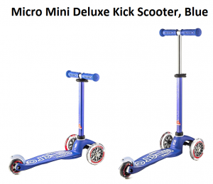 Micro Mini Deluxe In Kick Scooter Blue From Ride On Scooters Toys