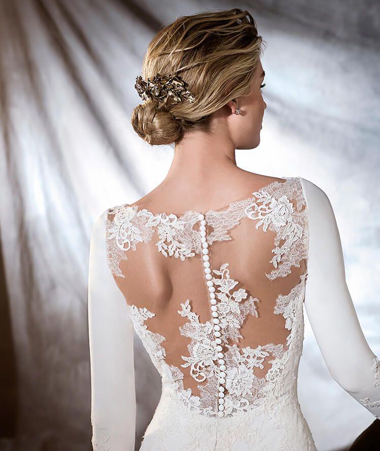 orquidea - vestido de novia de escote barco   vestidos de novia