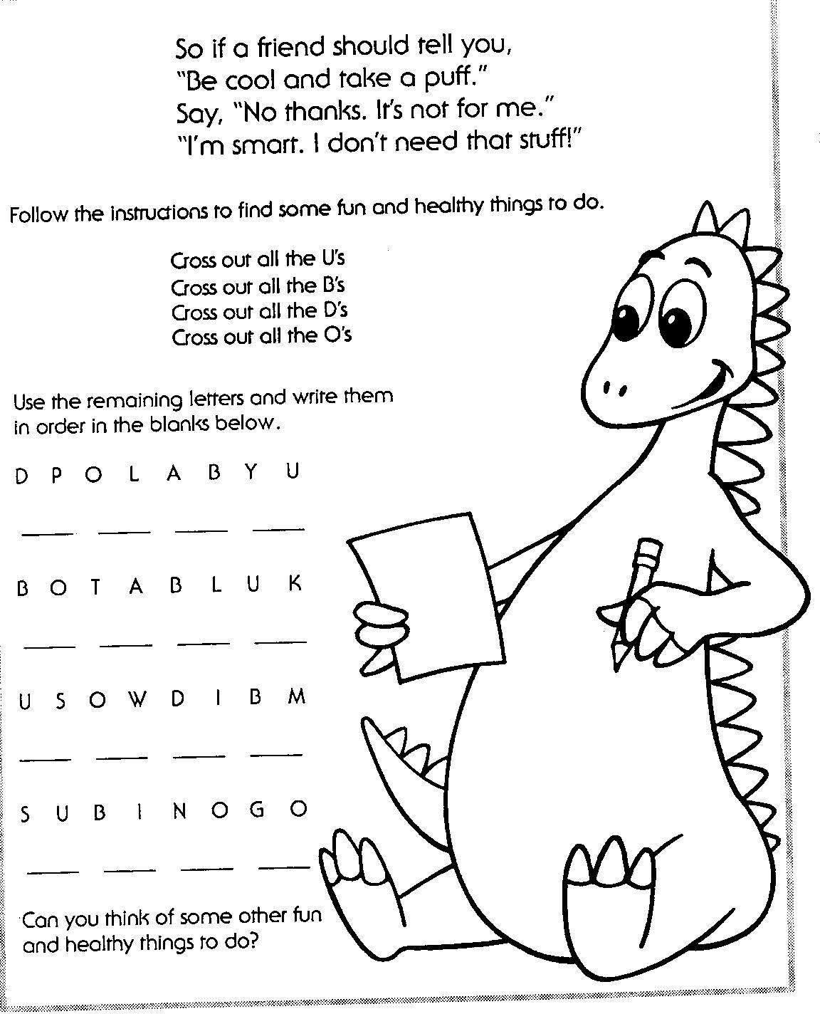 Red Ribbon Week Coloring Pages With Images