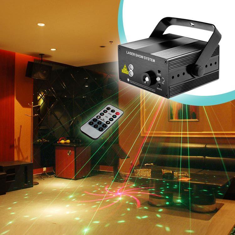RG 40 패턴 레드 녹색 미니 레이저 프로젝터 빛 블루 원격 레이저 쇼 시스템 자동 사운드/음악 활동 DJ 디스코