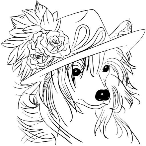 Best Coloring Books for Dog Lovers Coloring books, Dog and Books - best of coloring pages for adults dogs