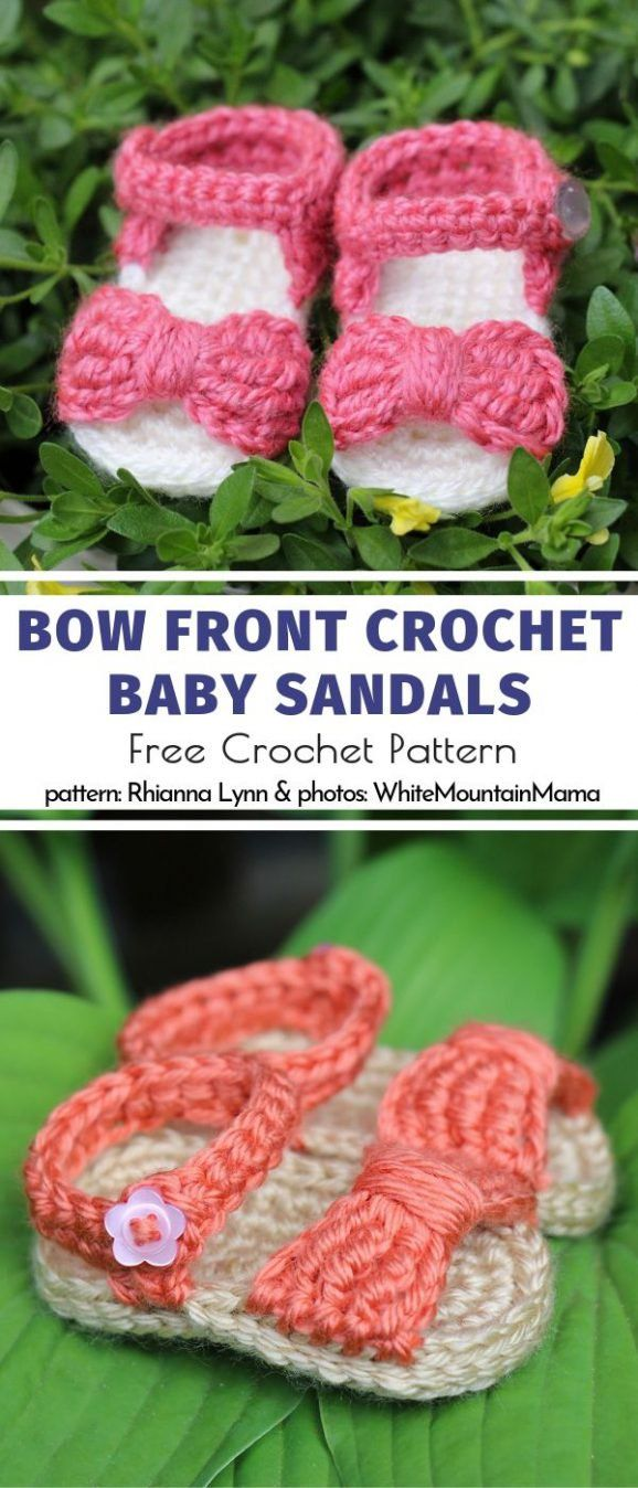 Sweet and Comfy Baby Sandals Free Crochet Patterns #crochetbabyboots