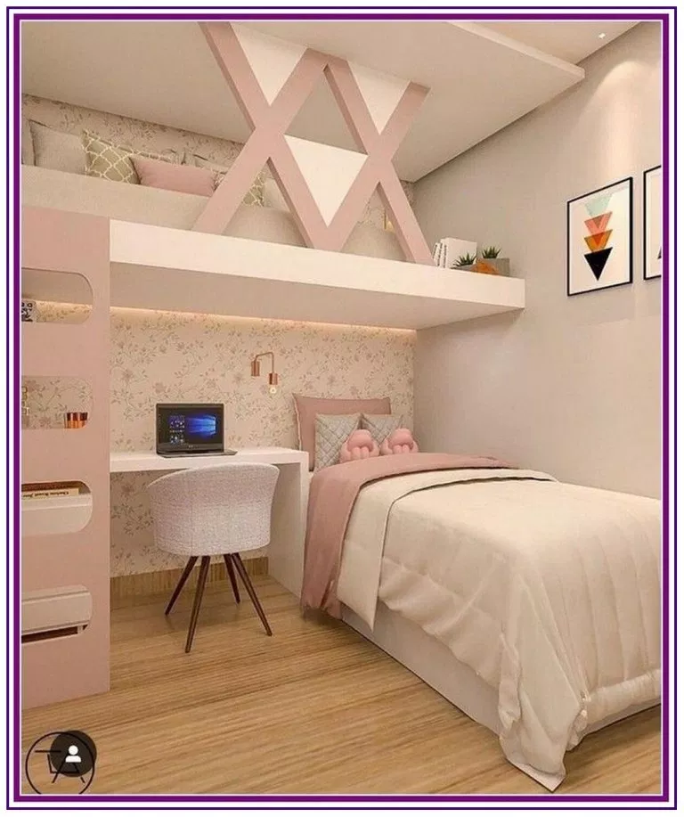 29 Small Bedroom Ideas That Stylishly Space Saving Small Apartment Bedrooms Girl Bedroom Designs Stylish Bedroom Design