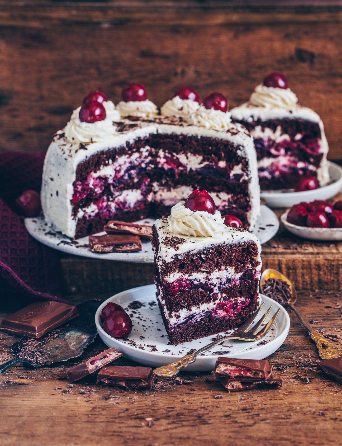 Vegane Schwarzwälder Kirschtorte (einfaches Rezept #easyrecipes