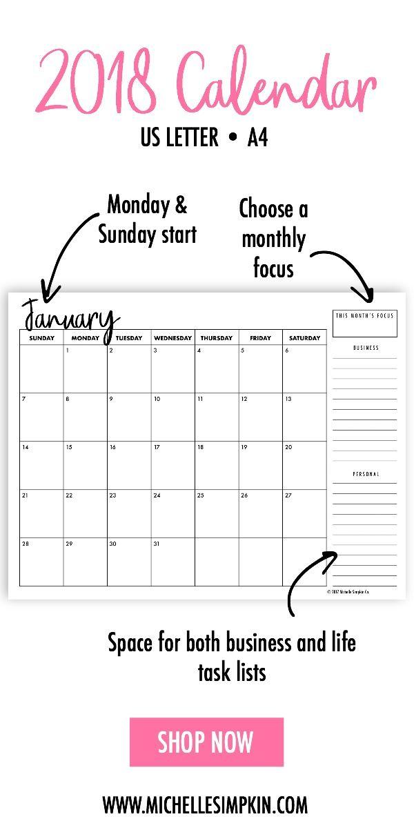 Calendar  Monthly Calendar Printable Calendar