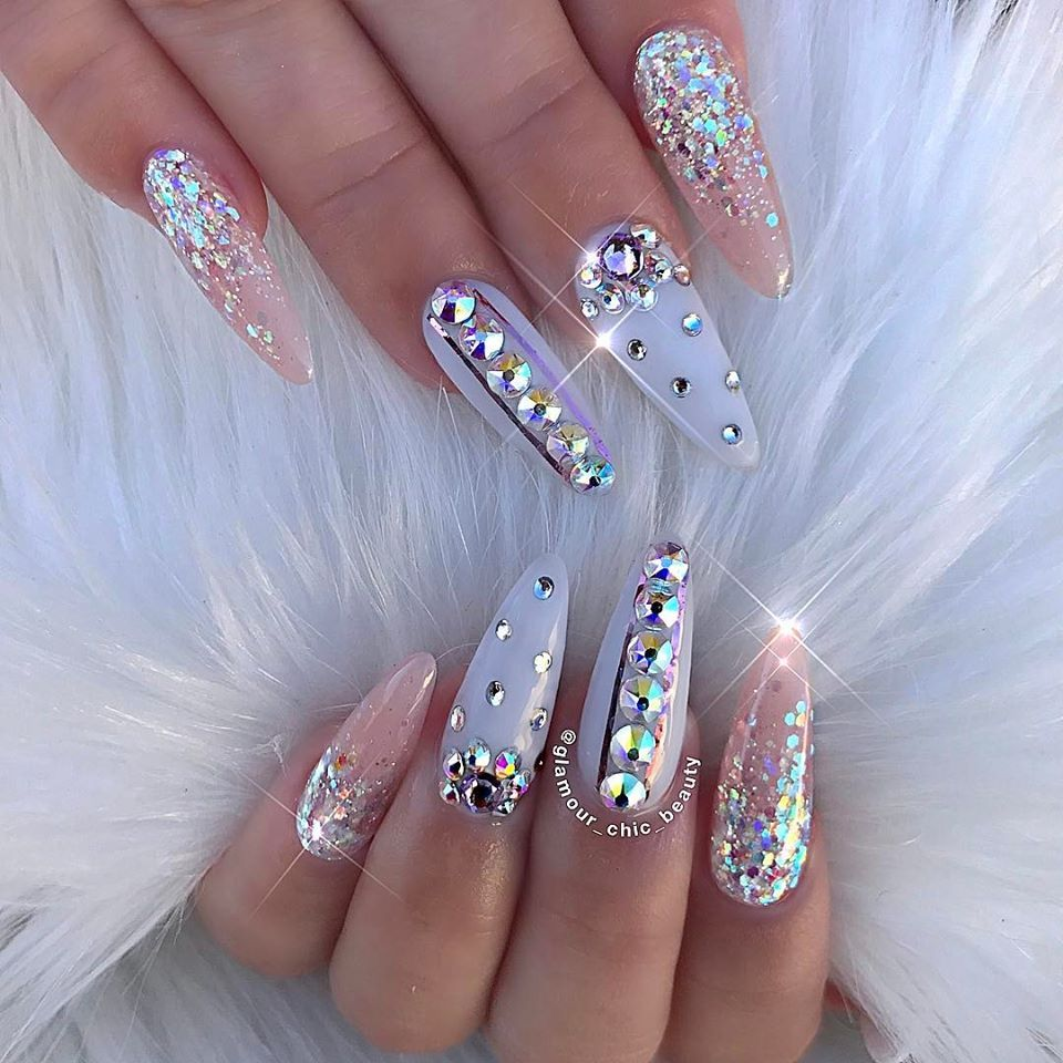 Metallic Nail Art is very popular around the world because they look classy  and have the tendency to grab a lot of eyeball since they are shimmery and  shiny - Pin By J B On Summer Pinterest Nail Nail, Nail Inspo And Long