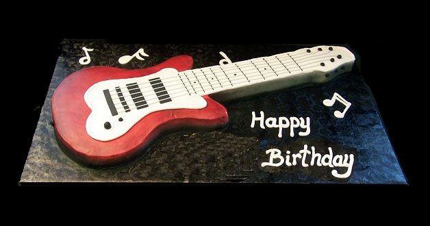 Guitar Birthday Cake Sweet cakes custom cakes cupcakes parties