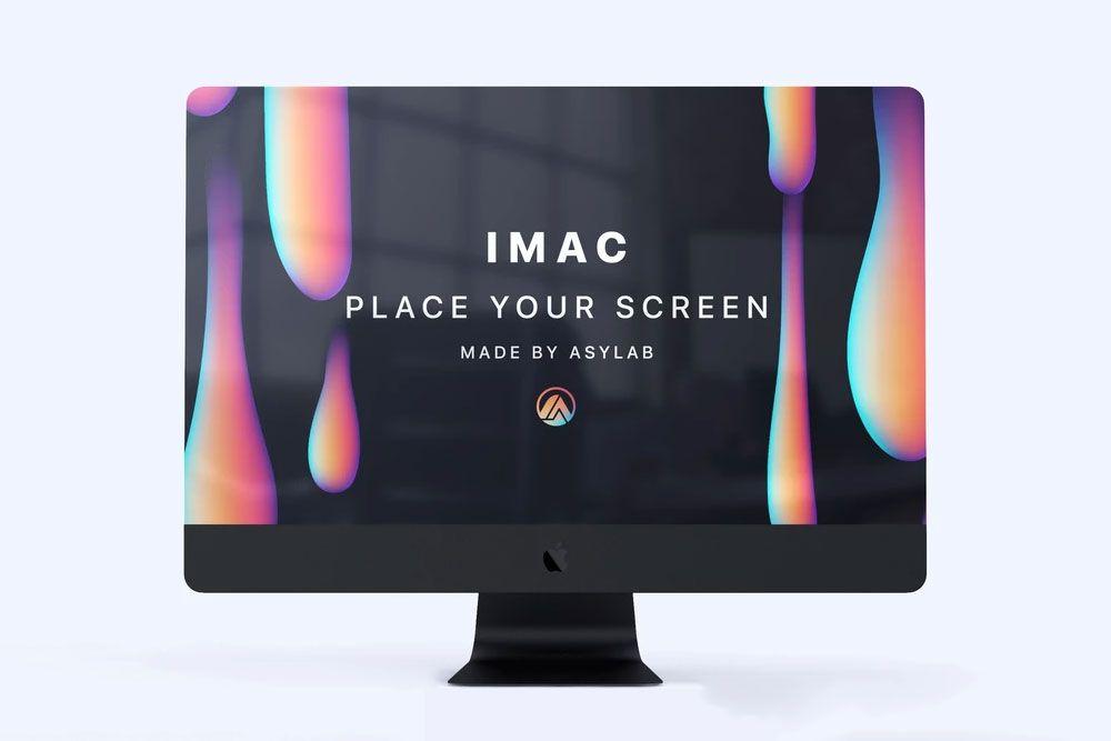 Free Imac Mockup In Psd Imac Apple Mockup Psd Web Design Freebies Web Mockup Mockup