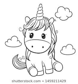 Cute Cartoon Unicorn Outlined For Coloring Book Isolated On A White Background Wenn Du Mal Buch Einhorn Zum Ausmalen Ausmalbilder