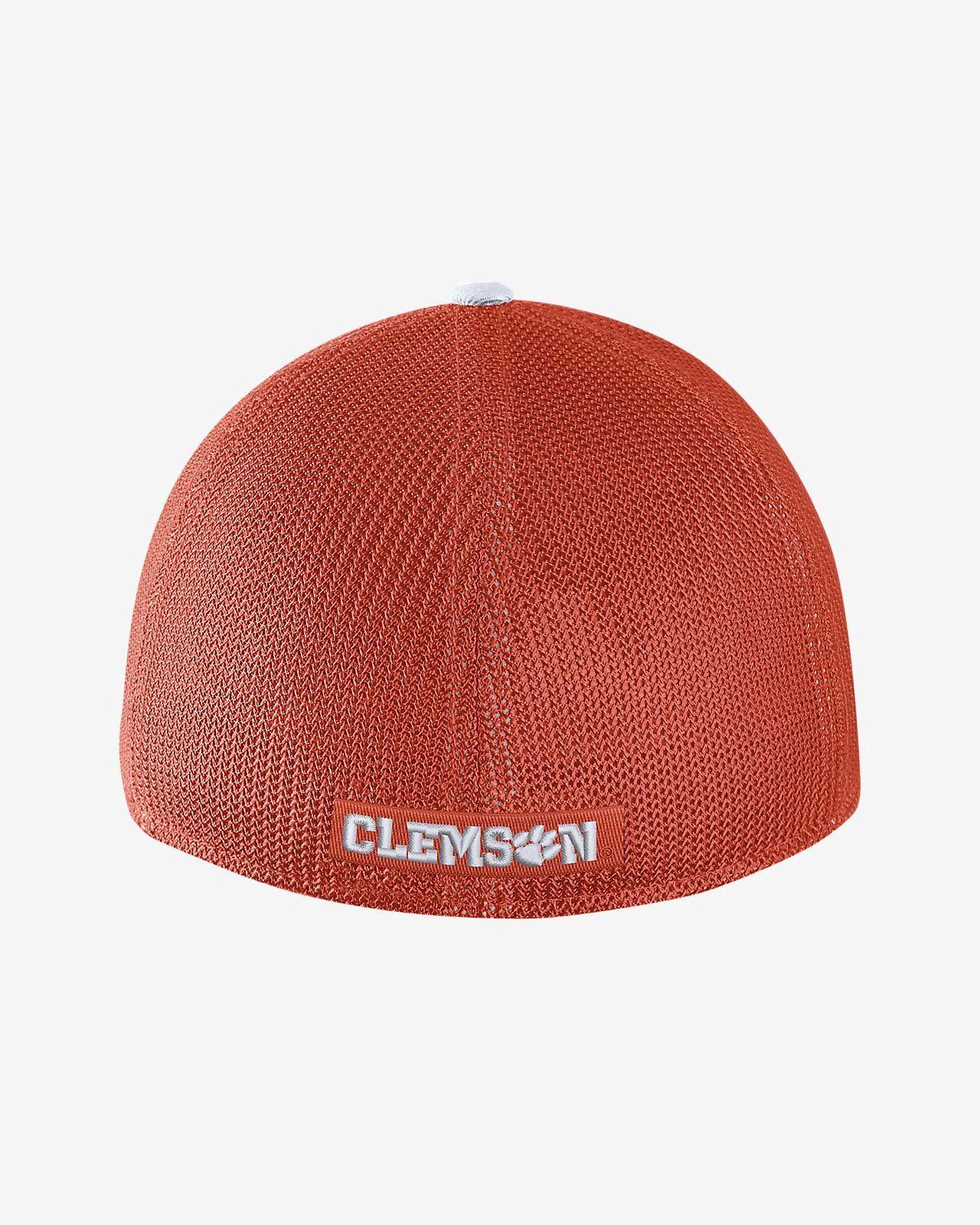 c5833d24224 Nike College Classic 99 Swoosh Flex (Clemson) Fitted Hat - FLX Orange
