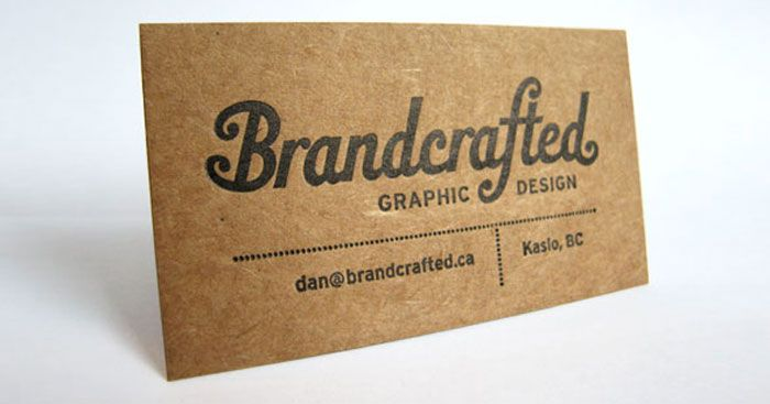 kraft paper business cards desgrcom14 eye catching examples - Kraft Paper Business Cards