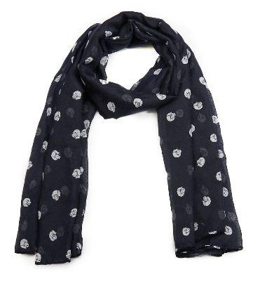 Cat print scarf - dark blue