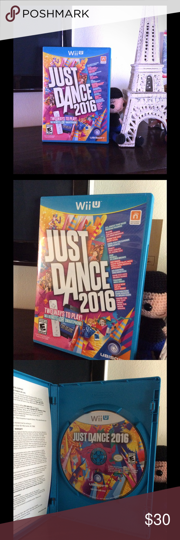 Just Dance 2016 (Wii U) Just Dance (Compatible with Wii U) - Good Condition (played 2-3 times) - Introducing Just Dance 2016 the newest game from the top-selling franchise with a new way to play All you need is your smartphone and the free Just Dance Controller App to play Just Dance 2016 on console, no extra Wii Remotes needed. Wii U Other