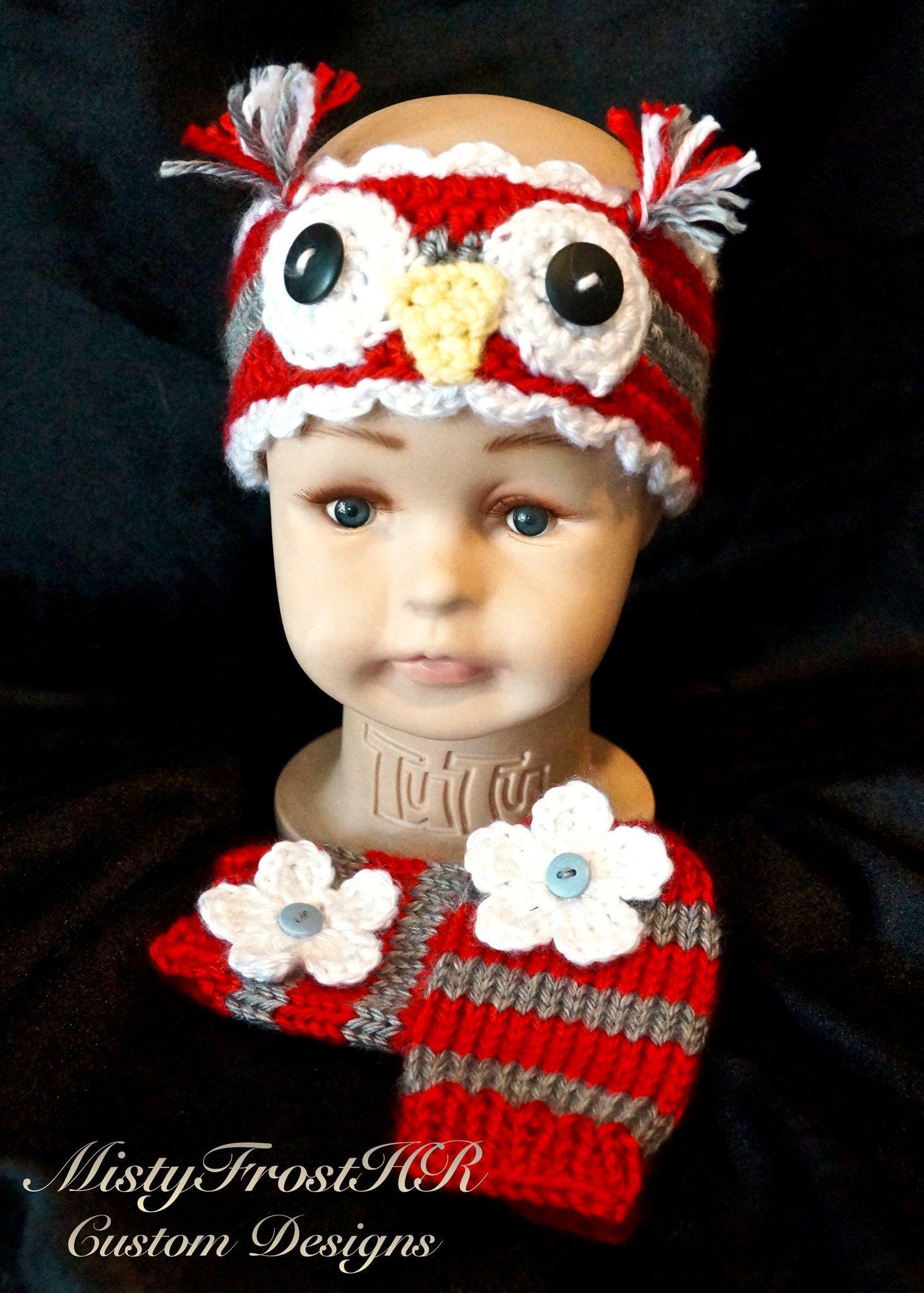 Crochet Infant Owl Headband & Legwarmers Set | Pinterest