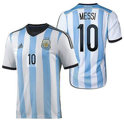 efded30b80e ... 10 Soccer Jersey (Home 1415) ADIDAS LIONEL MESSI ARGENTINA HOME JERSEY  FIFA WORLD CUP BRAZIL 2014 ...