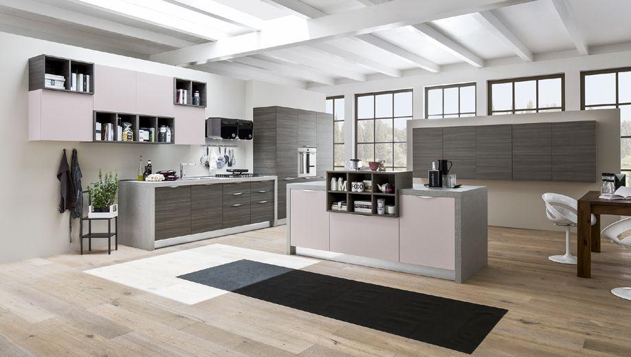 Jenny la cucina living composizione con ante di spessore 22 mm frassinate color vaniglia e - Mobilificio il sole ...