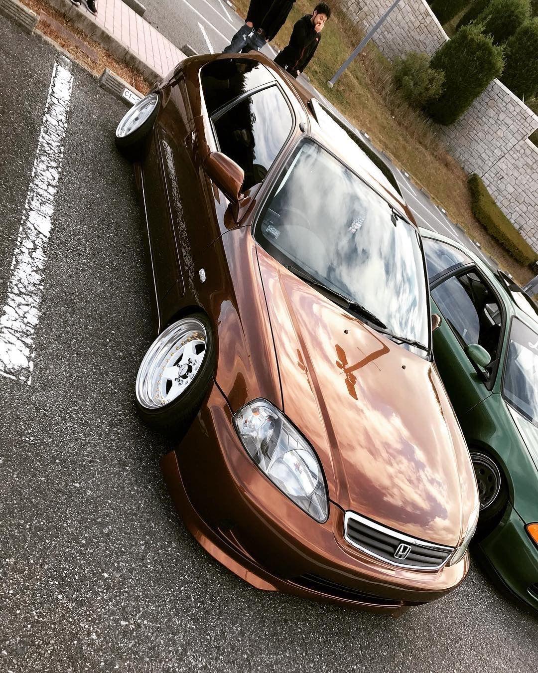 Brown Honda Civic Ek hatchback Clean asf Honda civic