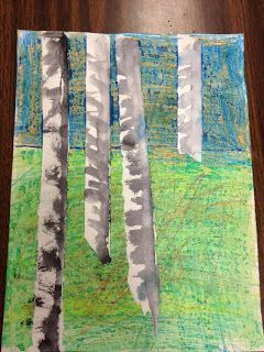 Elfers Art Room: 1st grade Landscapes line and depth