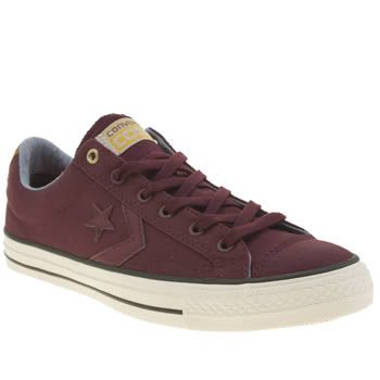Converse Burgundy Star Player Workwear Ox Trainers