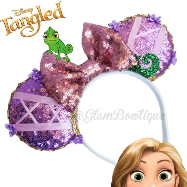 Tangled Mouse Ears | Glam BOWtique Hair Accessories ...