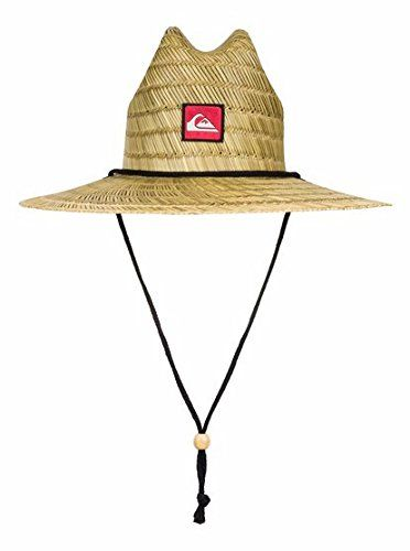 5e4d0146958a8 Listed Price   18.00 Pierside Straw lifeguard hat for boys from Quiksilver.  Special features include front logo label adjustable chin strap…