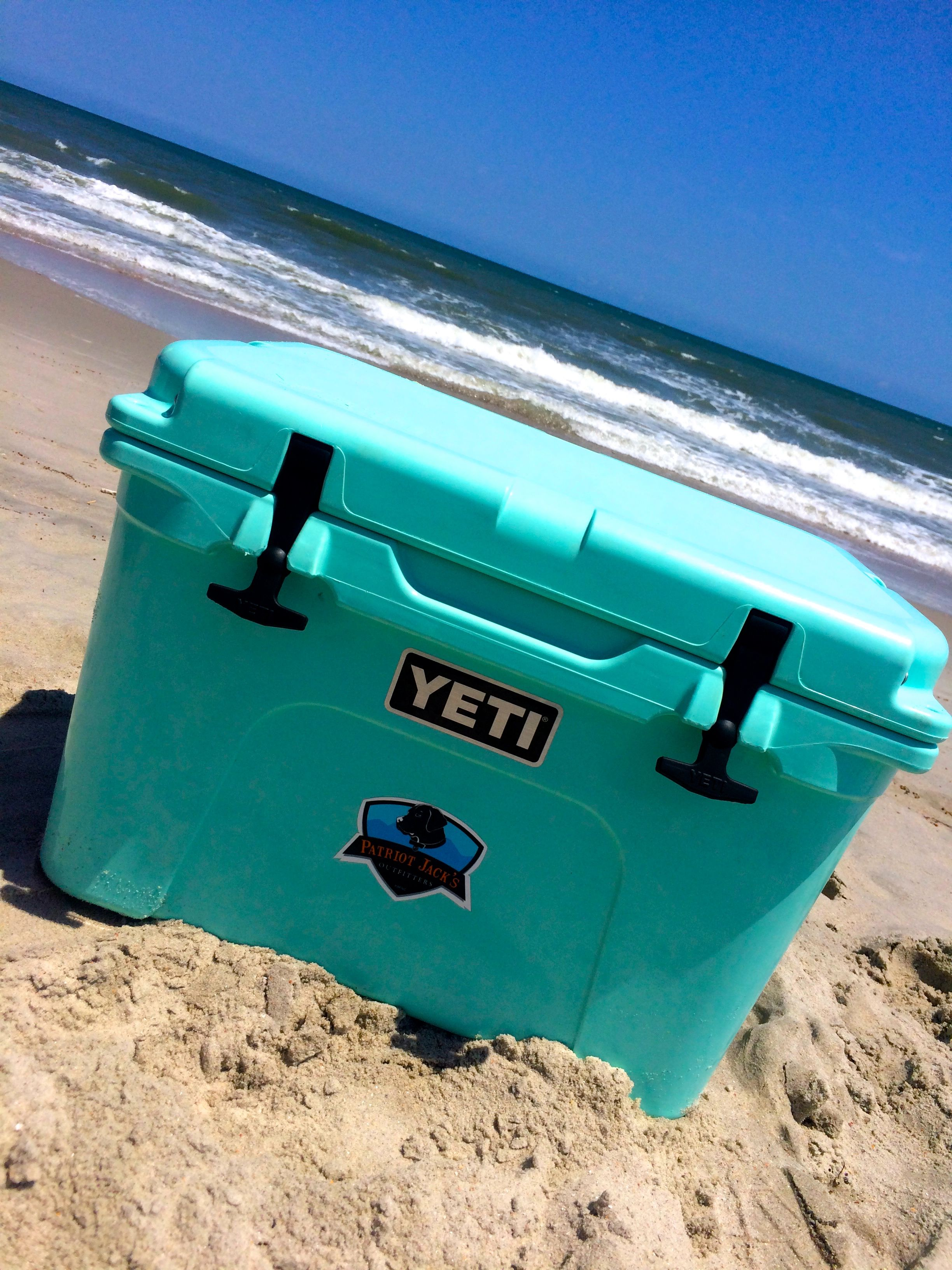 Green Styrofoam Coolers ~ Seafoam green yeti cooler limited edition preppy