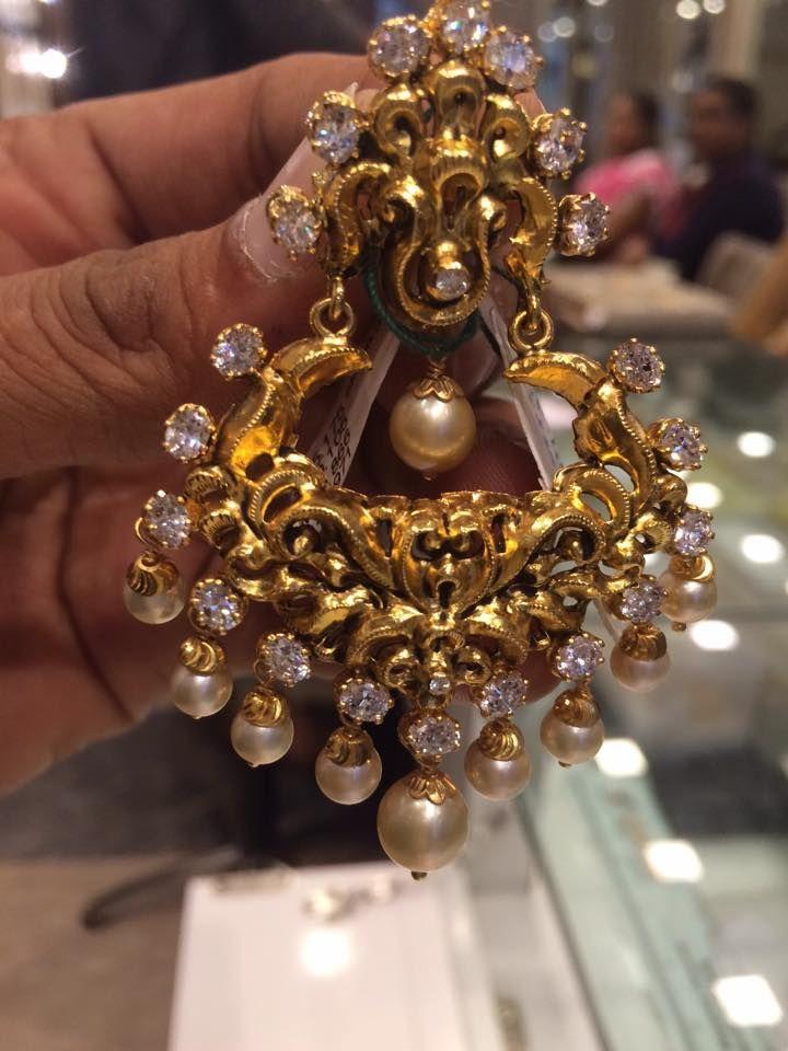 nakshi gold earrings model   gold 2   Pinterest   Models, Gold and ...