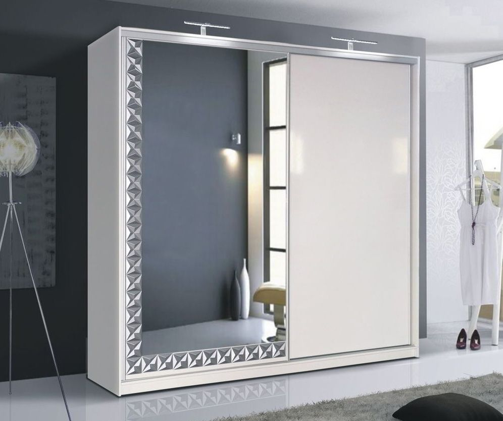 Cannes White Single Door Wardrobe Wardrobe Design
