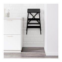 IKEA - BEKVÄM, Trapje, 3 tredes, Kan ingeklapt worden om ruimte te besparen.Massief hout is een slijtvast natuurmateriaal.