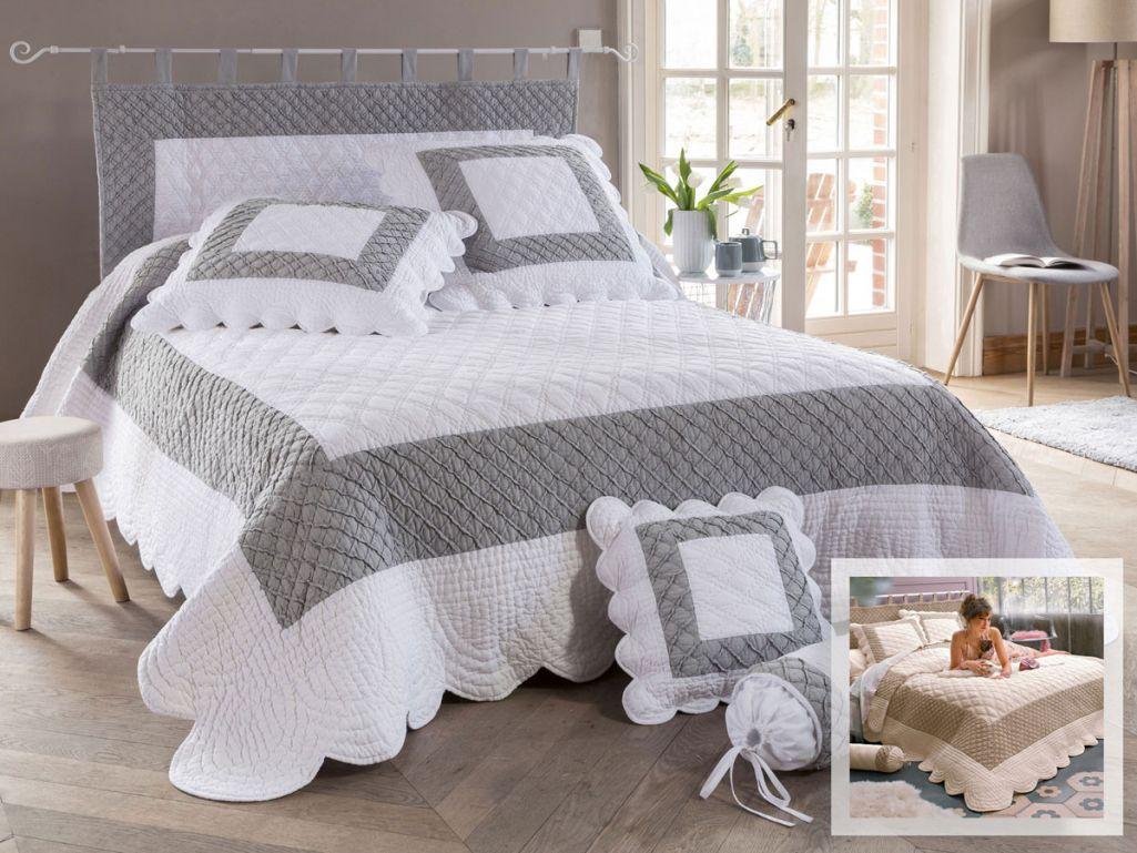 couvre lit boutis belle boutis couvre lit dessus de lit jet de lit becquet - Dessus De Lit Boutis