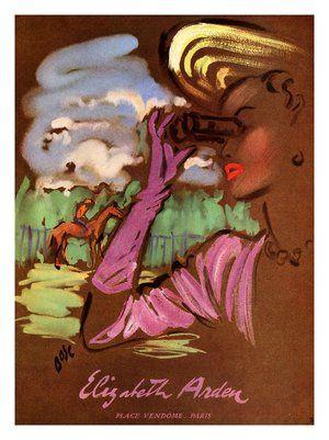 pubblicità di profumo vintage di elizabeth arden