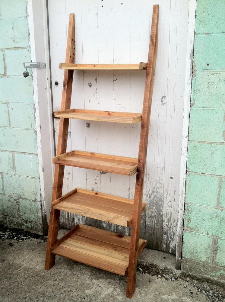 Reclaimed Wood Ladder Shelf WB Designs - Reclaimed Wood Ladder Shelf WB Designs