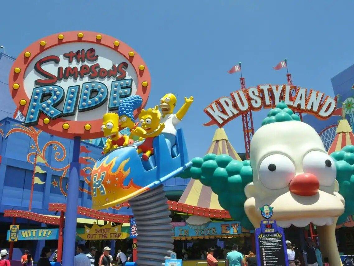 The Simpsons Ride Orlando Florida Viagens Filmes Gibi