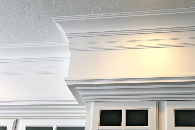 3 pieces of trim - crown, a baseboard hung upside down, and pin mold ...